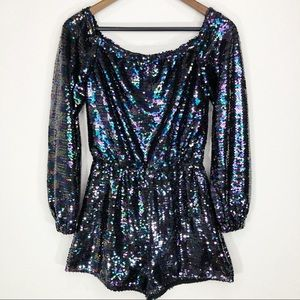 Urban Outfitters Sequins Romper XS